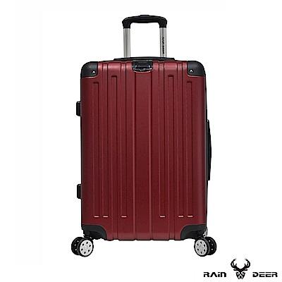RAIN DEER 克萊爾28吋ABS鑽石紋防刮行李箱-酒紅