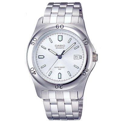 CASIO 世界城市新風範指針錶(MTP-1213A-7A)-白