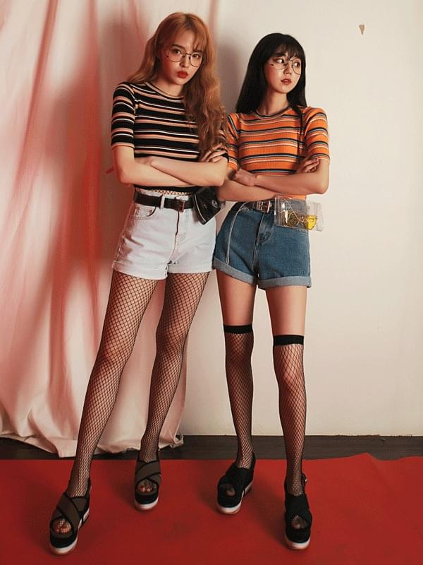韓國空運 - Summer roll-up short denim 短褲
