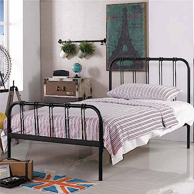 文創集 麥特3.5尺單人鐵床(二色可選+不含床墊)-111x197x106.5cm免組