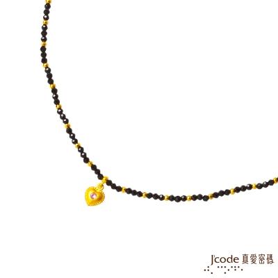 J code真愛密碼金飾 兩心相伴黃金/尖晶石項鍊