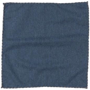 《期間限定セール開催中!》ELEVENTY メンズ スカーフ ダークブルー コットン 100%