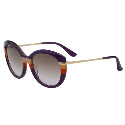Salvatore Ferragamo 時尚優雅太陽眼鏡 紫色 SF724S