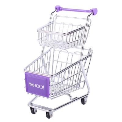 Yahoo! 迷你收納購物推車(雙層)套裝組50台