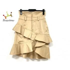 ドレスキャンプ DRESS CAMP スカート サイズ38 M レディース ベージュ フリル  値下げ 20190922