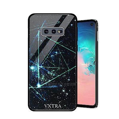 VXTRA Samsung Galaxy S10e 鋼化玻璃防滑全包保護殼(科幻元素)