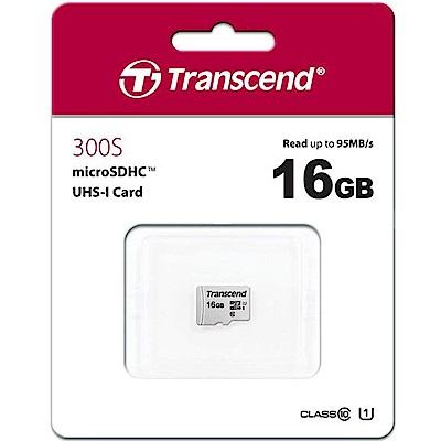 Transcend 創見 300S 16GB U1 microSDHC UHS-I 記憶卡