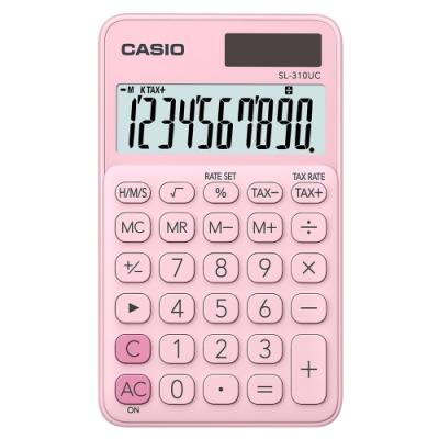 CASIO 10位元甜美馬卡龍輕巧口袋型計算機(SL-310UC-PK )-草莓粉
