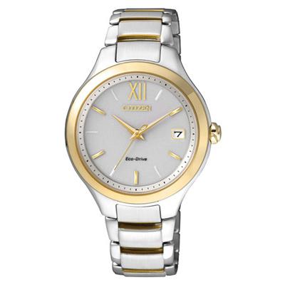 CITIZEN 星辰 L系列 閃耀自信光動能都會時尚腕錶 銀金 EO1164-54A