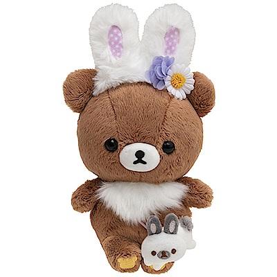 拉拉熊花園小兔子系列毛絨公仔。蜂蜜小熊  San-X