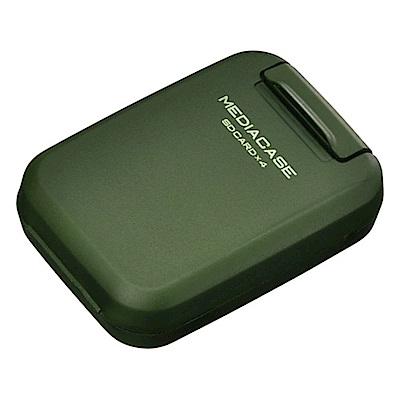 HAKUBA 4片裝SD記憶卡盒(軍綠/HA371307)