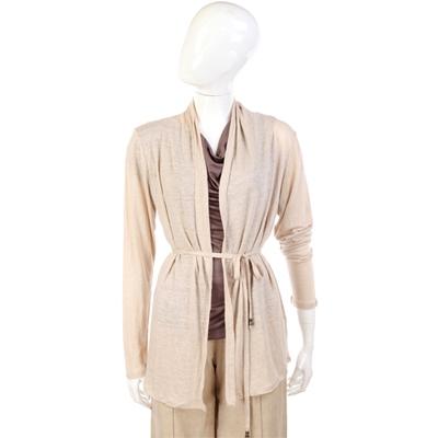 MARELLA 米色綁帶設計外套