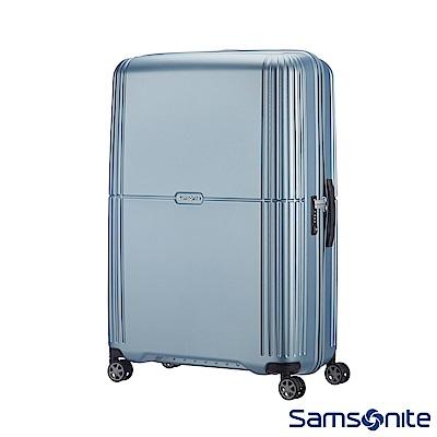Samsonite新秀麗 28吋Orfeo 簡約方正線條PC嵌入式TSA海關鎖行李箱(銀藍