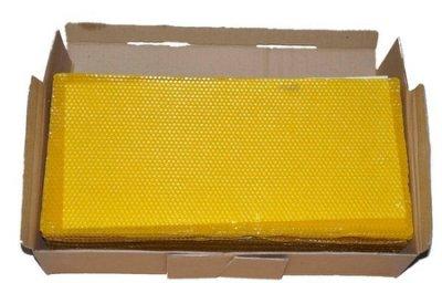 養蜂工具 優質中蜂巢礎/野蜂房巢礎 不墜脾 耐高溫 蜜蜂接受快  41.5cm*19.5cm