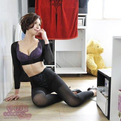 《艾芮莎精品》No.1431 頂級3D塑形 收脂醫療布420丹重機能9分長束褲 暴瘦曲線(S~XXL)無蕾絲(黑/膚)