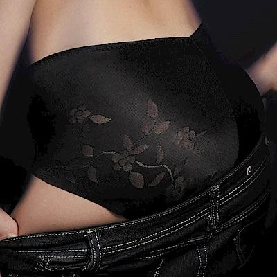 華歌爾-V機密提花系列M-LL中腰三角褲(黑)熱銷經典款