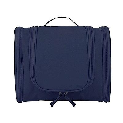 PUSH!旅遊用品防水旅遊洗漱包化妝包旅行盥洗收納洗浴包收納袋藏青色S54-1
