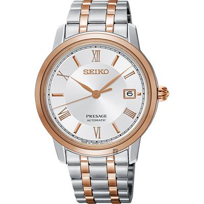 SEIKO Presage 經典機械錶 SRPC06J1 雙色版