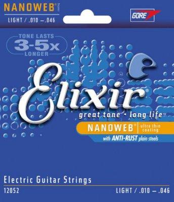 【華邑樂器36705】Elixir 12052 電吉他弦 (10-46 Nanoweb 薄披覆薄膜 原廠公司貨)