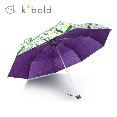 德國kobold酷波德 抗UV-Lotus叢林-防潑水紫膠遮陽三折傘-綠