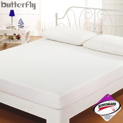 BUTTERFLY - SGS認證防水全包覆式保潔墊-白 特大6x7尺 台灣製造