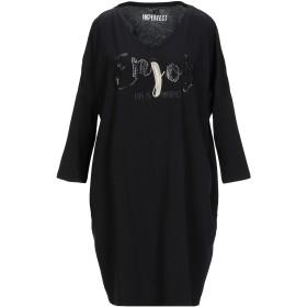 《9/20まで! 限定セール開催中》!MERFECT レディース ミニワンピース&ドレス ブラック 1 コットン 100%