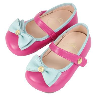 Swan天鵝童鞋-小玫瑰氣質典雅學步鞋 1494-桃