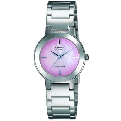 CASIO 時尚精緻小巧甜美淑女腕錶(LTP-1191A-4C)-珍珠母貝粉紅色/25.5mm