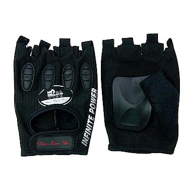 DLD 多輪多 專業競速直排輪護掌 溜冰鞋護具配件 半指競速手套 黑