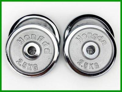2.5公斤槓片(四片價)(2.5kg/槓鈴片/電鍍啞鈴片)