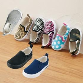 【格安-子供用靴】キッズ幅広スウェット素材スリッポンスニーカー