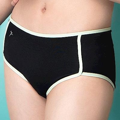 嬪婷-  陽光運動M-LL 低腰平口內褲(黑)冰涼紗-吸濕排汗