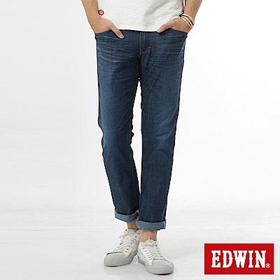 EDWIN 中直筒 EDGE輕爽COOL牛仔褲-男-拔洗藍
