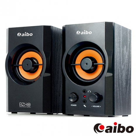 aibo S288 二件式 2.0聲道 木質USB多媒體喇叭