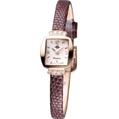 Rosemont 骨董風玫瑰系列優雅時尚腕錶-玫瑰金框/16mm