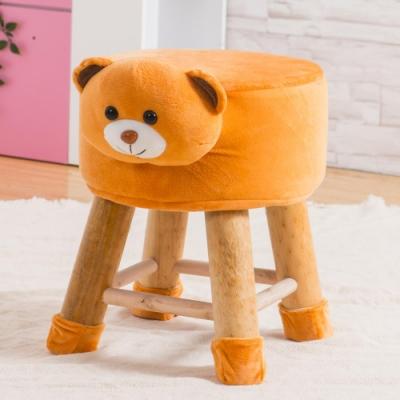 Abel-可愛Q萌動物造型凳/穿鞋椅-啦啦熊-29x29x35cm