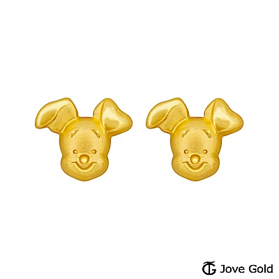 Disney迪士尼金飾 維尼系列 小豬黃金耳環