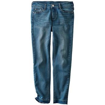 50%OFF【レディース】 裾加工スリムジーンズ - セシール ■カラー:ウォッシュブルー ■サイズ:61-89,70-95