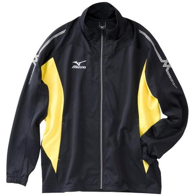 MIZUNO SHOP [ミズノ公式オンラインショップ] ムーブウォームアップシャツ(大きいサイズ) 94 ブラック×イエロー A60SB300_b