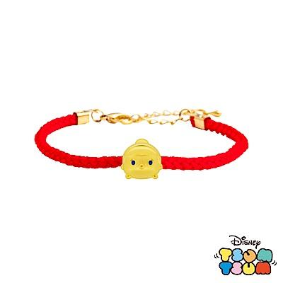 Disney迪士尼TSUM TSUM系列金飾 黃金編織手鍊 仙杜瑞拉款
