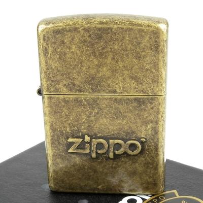 【ZIPPO】美系~Stamp-內部打印仿古鍍黃銅打火機
