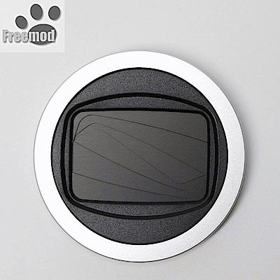 台灣製造Freemod半自動蓋X-CAP2含STC保護鏡的52mm鏡頭蓋Silver銀色