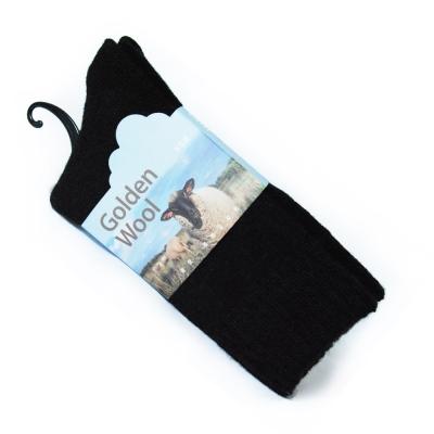GreenLab.黃金羊毛襪GoldenWool保暖厚襪1雙入 黑色