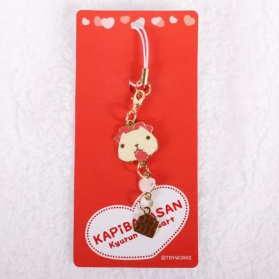 Kapibarasan 水豚君愛心系列巧克力吊飾米