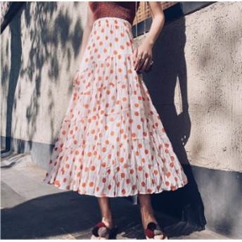 ロングスカート マキシスカート フレアスカート 大きいサイズ 春 夏 ロング 柄 黒 スカート Aラインスカート ボトムス レディース ティア