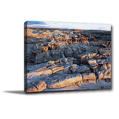 24mama掛畫-單聯式橫幅 掛畫無框畫 岩石的樣貌 40x30cm
