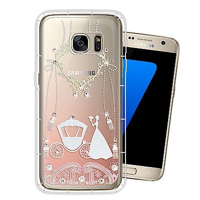 Samsung Galaxy S7 奧地利水晶彩繪空壓手機殼(精靈捧花)