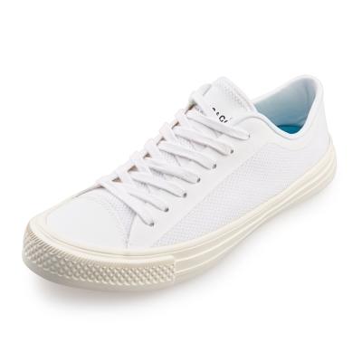 (男/女)Ponic&Co美國加州環保防水綁帶休閒鞋*白色