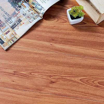 樂嫚妮 (160片)DIY塑膠PVC仿木紋DIY地板貼 6.9坪 欒葉蘇木-贈壁貼