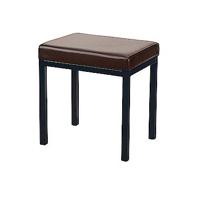 AS-Augus咖啡色四方鐵椅-40x30x42cm
